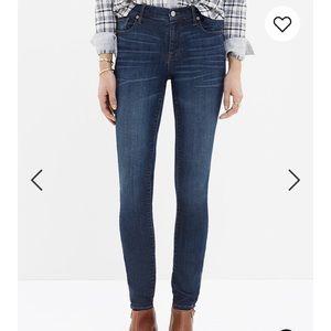 MADEWELL High Riser Skinny Jeans in Atlantic
